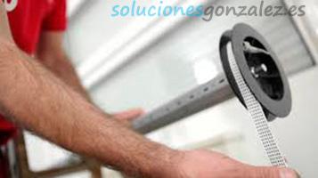 Cambio o reparación de cintas o cuerdas, recogedores y guías