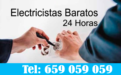 Electricistas Aguas de Busot 24 horas baratos