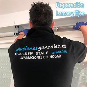 Reparación de Lamas, Ejes de persianas Alicante