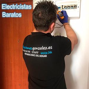Electricistas baratos Novelda
