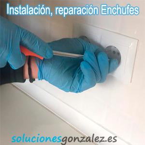 Instalación, Reparación de enchufes
