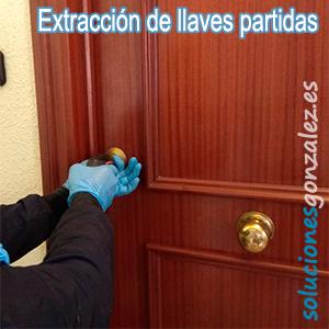 Extracción de llaves partidas Málaga